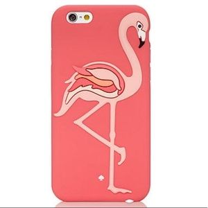 Kate Spade pink flamingo silicon iPhone 6/6s case.